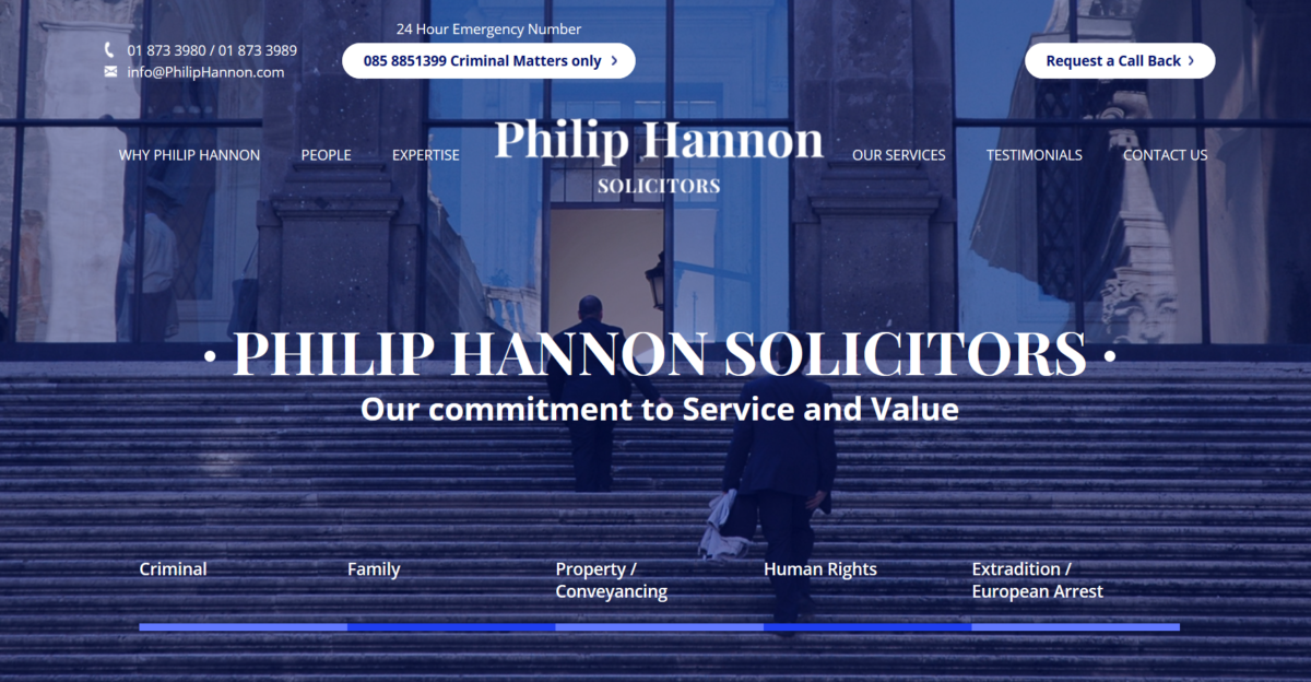 Solicitor Website Design - Philip Hannon Solicitors